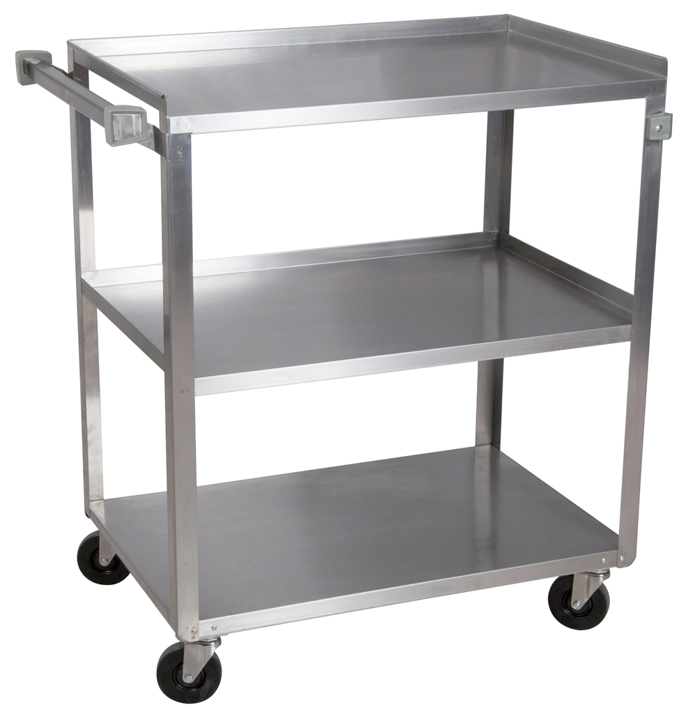 SD SS UTILITY CART, 18 X 27 (3) SHELVES