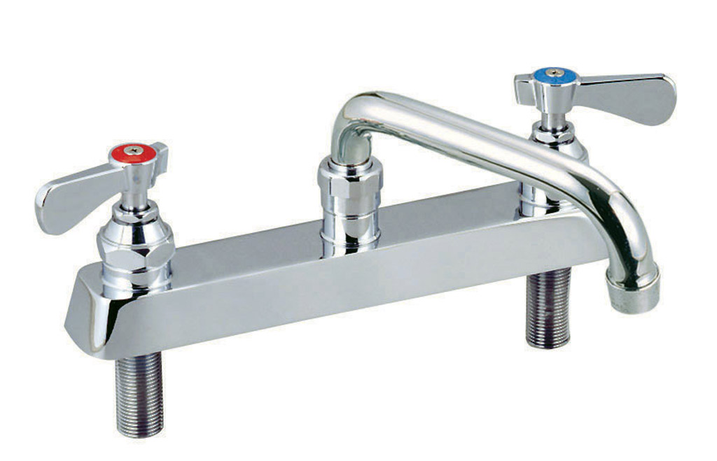 "8"" C/C HD DM FAUCET WITH 14"" SPOUT"