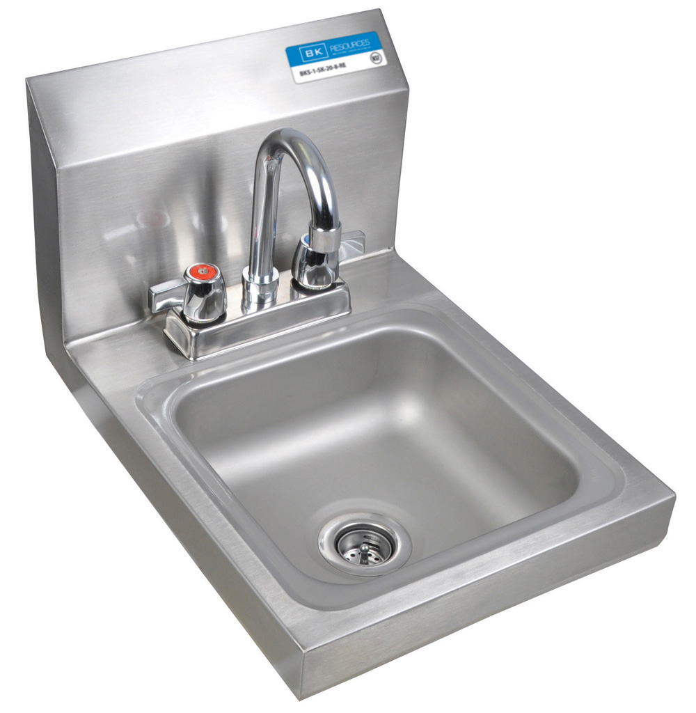 DM SPACE SAVER HAND SINK 2 HOLE W FAUCET