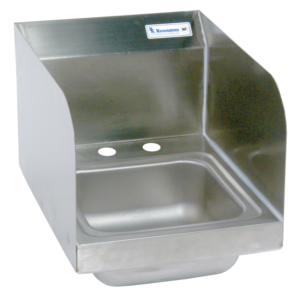DM SPACE SAVER HAND SINK 2 HOLE W SIDE SPLASHES