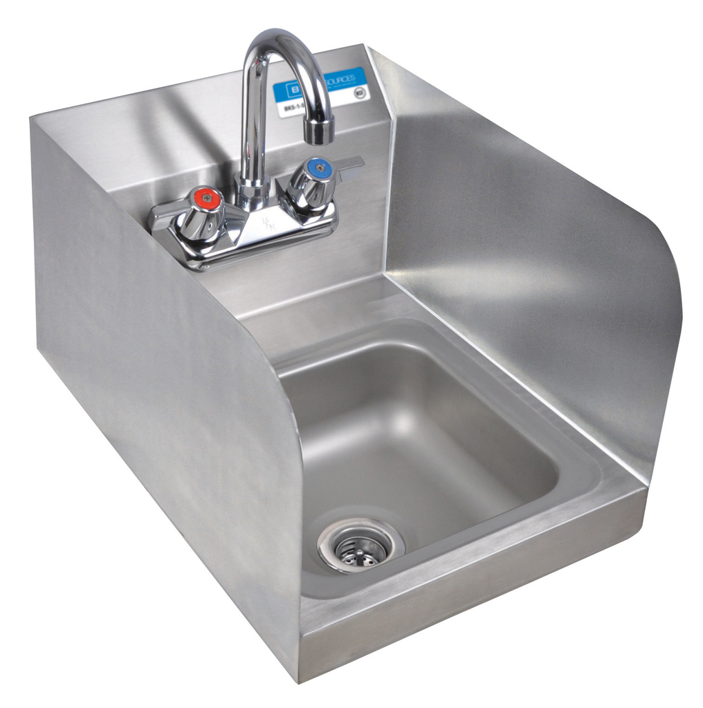 SM SPACE SAVER HAND SINK 2 HOLE W FAUCET | BK Resources