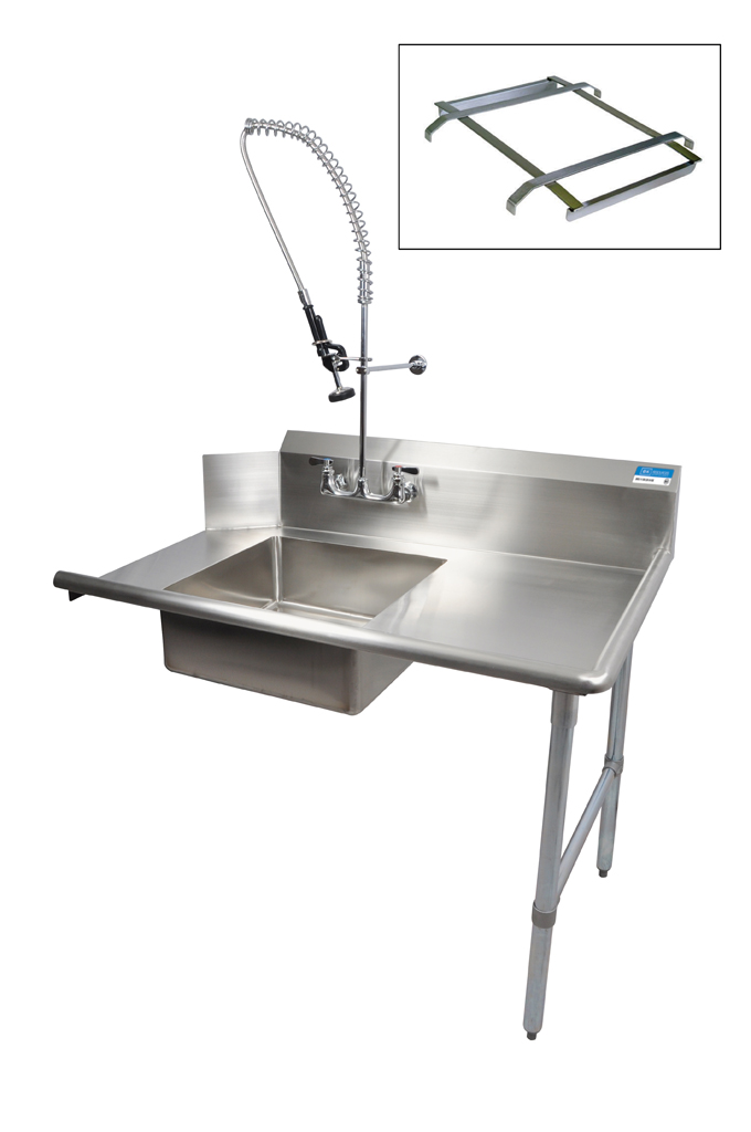 "26"" SOILED DISHTABLE RIGHT KIT W FAUCET"