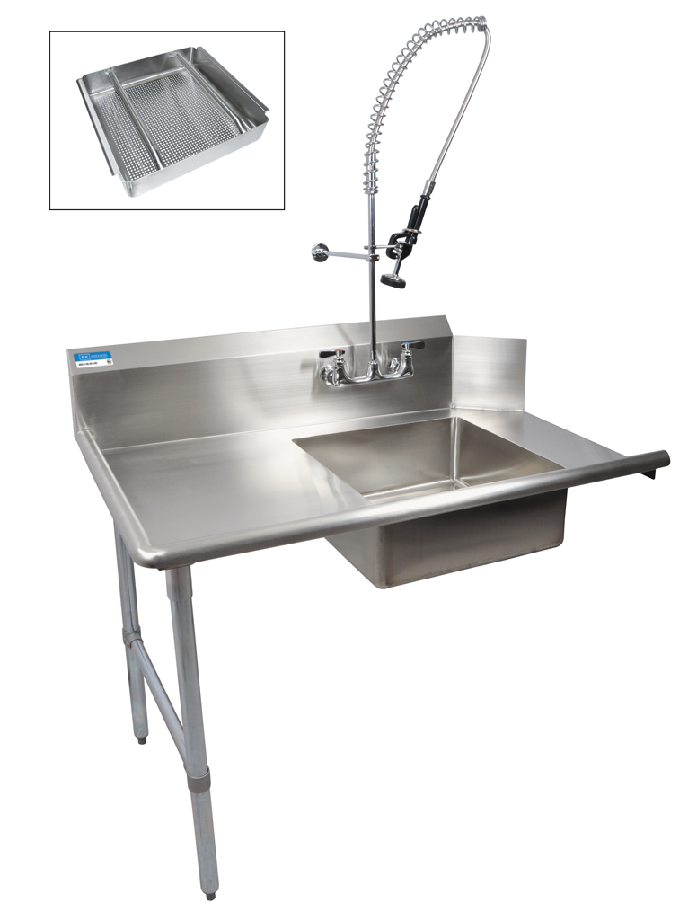 "72"" SOILED DISHTABLE LEFT KIT W FAUCET"
