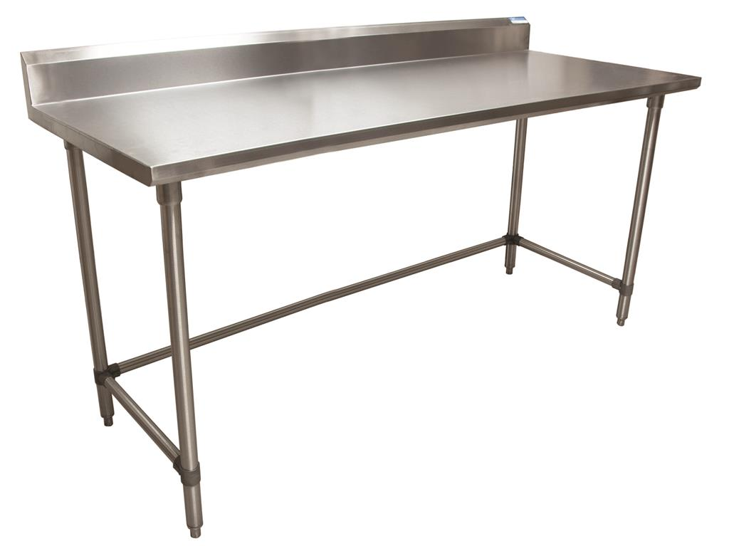 "16 GA. T-304 5"" RISER 72X30 TABLE SS OPEN BASE"
