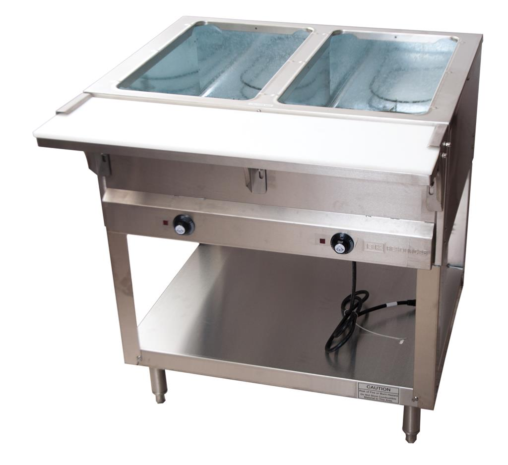 2 WELL ELECTRIC STEAM TABLE, 1000W