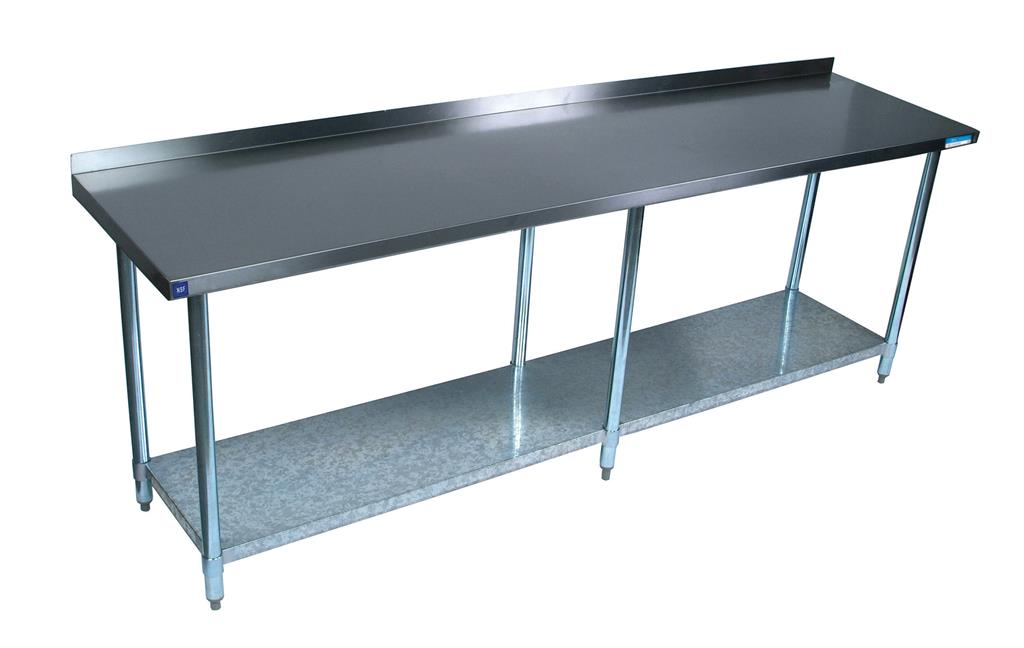 "18"" X 96"" T-430 18 GA TABLE SS TOP WITH 1.5"" RISER"