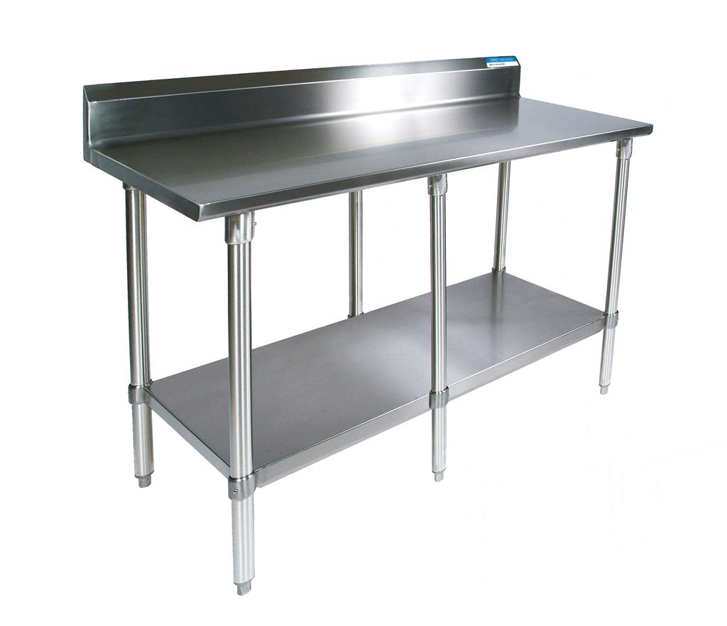 "84"" X 30"" T-430 18 GA TABLE SS TOP WITH 5"" RISER"
