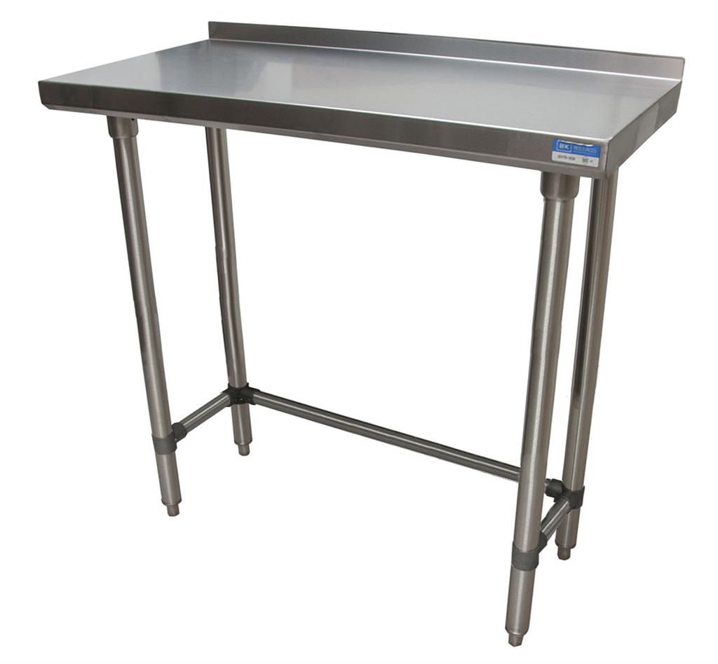 "18"" X 36"" T-430 18GA TABLE SS 1.5"" RISER OPEN BASE"