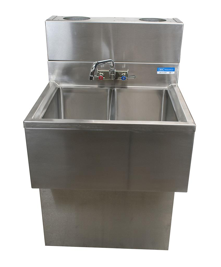 "18""X48"" UNDERBAR SINK INCLUDES BASE AND DIEWALL"