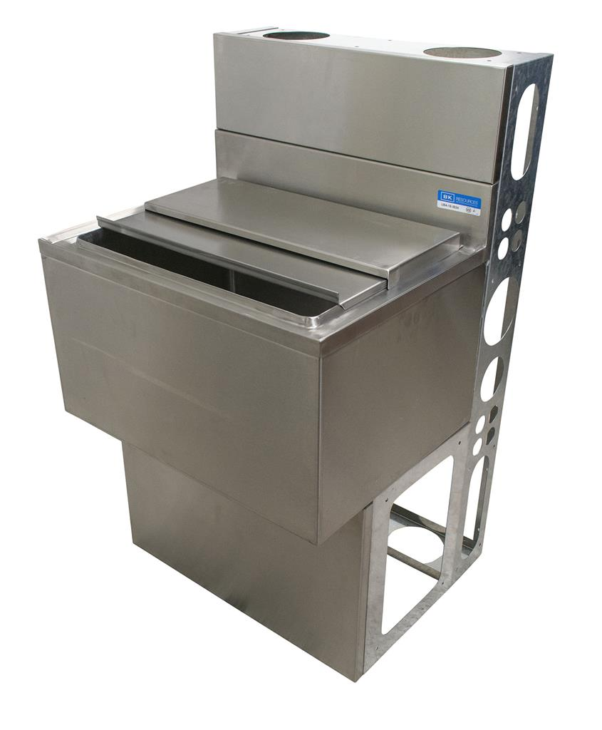 "48""X18"" ICE BIN W/10C COLD PLATE W/BASE & DIE WALL"