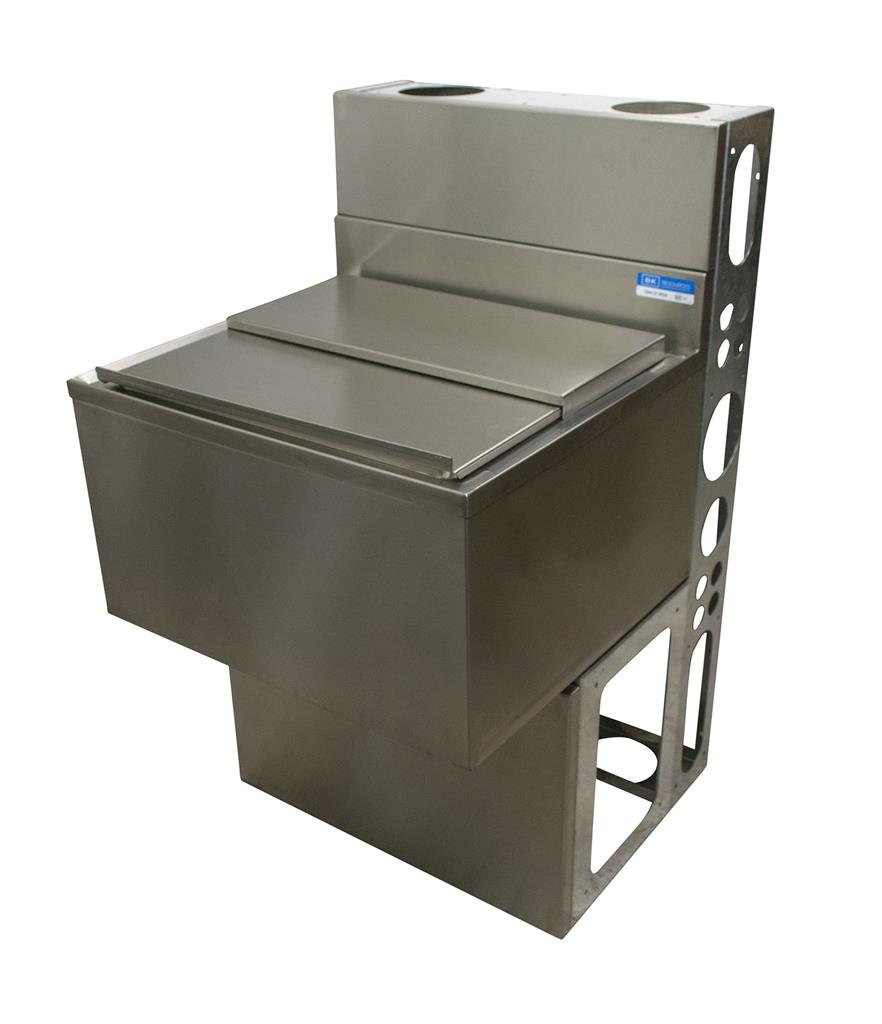 "36""X21"" ICE BIN W/ 8C COLD PLATE W/BASE & DIE WALL"