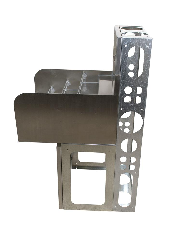 "21""X18"" 4 STEP LIQUOR DISPLAY INCLUDES BASE & DIE"