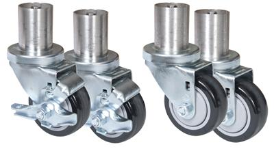 SET OF 4 CASTERS WITH ADAPTERS TO FIT BKDC