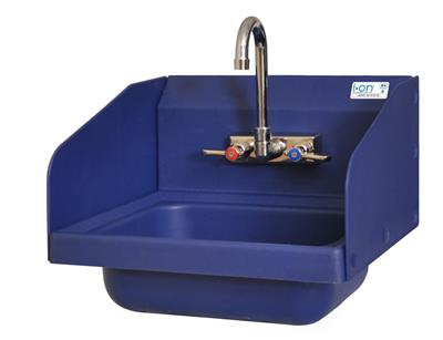 ION 2 HOLE SM BLUE ANTIMICROBIAL SIDE SPLASHES KIT