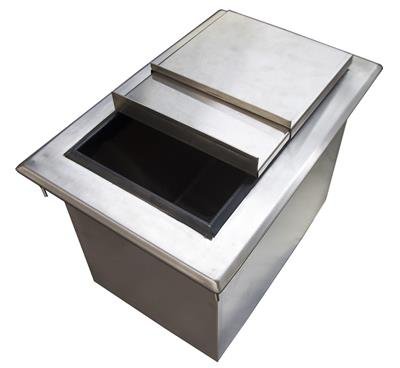 "SINGLE COMP DROPIN ICE BIN 12""X18"" W LID"