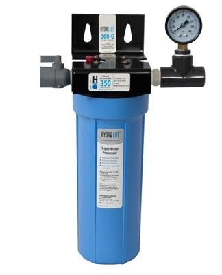 HYDRO LIFE - 300 WATER FILTER SYSTEM W/ GAUGE