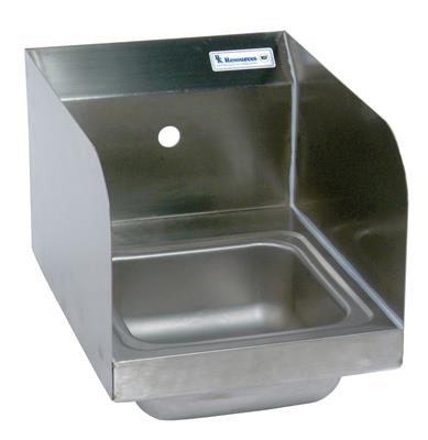 SM SPACE SAVER HAND SINK 1 HOLE W SIDE SPLASHES
