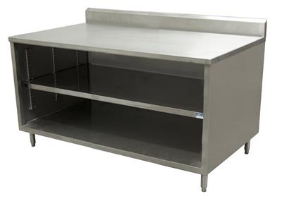 "24"" X 60"" STAINLESS STEEL TOP CHEF TABLE 5"" RISER"