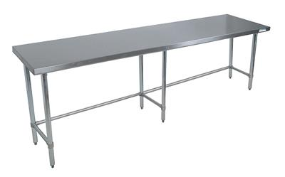 16 GA. T-304 96X36 TABLE, SS OPEN BASE