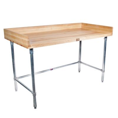 "HARD MAPLE BAKERS 4"" 3-SIDED RISER TABLE 72 X 36"
