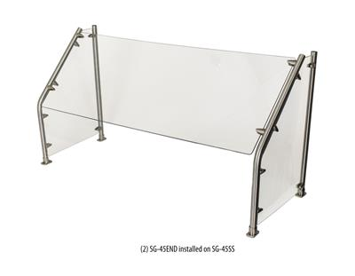 "84"" SELF SERVE 45 ANGLED SNEEZE GUARD GLASS"