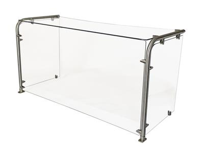 "120"" CAFETERIA 90 ANGLE SNEEZE GUARD GLASS"