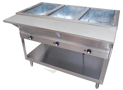 3 WELL ELECTRIC STEAM TABLE, 1500W