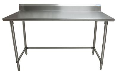 "60"" X 30"" T-430 18 GA TABLE SS 5"" RISER OPEN BASE"