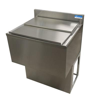 "24""X 21"" ICE BIN W/ 8C COLD PLATE SS INCLUDES BASE"