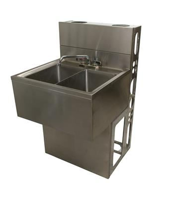 "21""X36"" UNDERBAR SINK INCLUDES BASE AND DIEWALL"