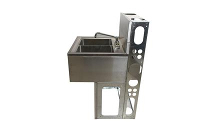 "21""X48"" UNDERBAR SINK INCLUDES BASE AND DIEWALL"