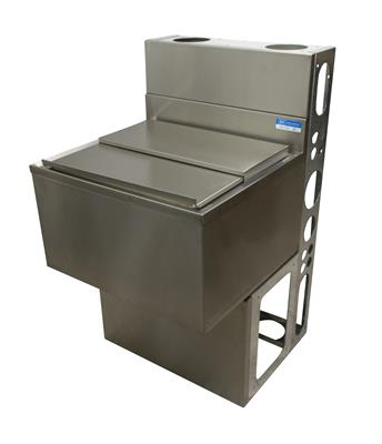"36""X21"" ICE BIN W/10C COLD PLATE W/BASE & DIE WALL"