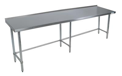 "84"" X 24"" T-430 18GA TABLE SS 1.5"" RISER OPEN BASE"